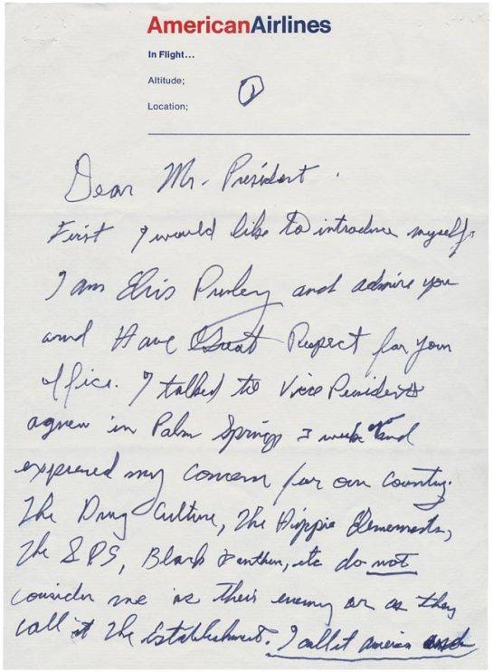 Elvis Letter Page 1