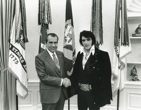 Elvis meets Nixon 12 21 1970
