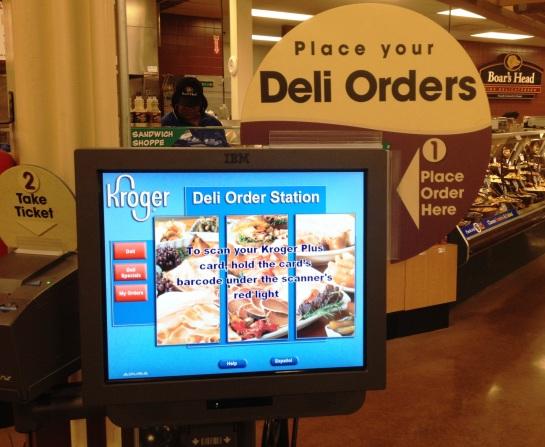 Kroger Deli Order station 2013-12-05